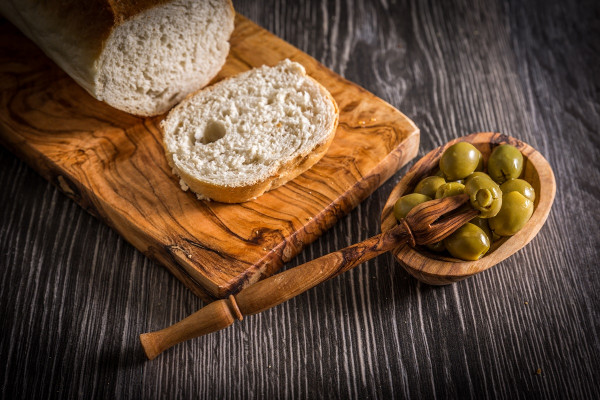 Olivenpicker aus Olivenholz 16 cm