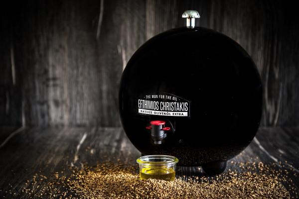 Bundle - 1 x Kugel in schwarz & 2 x Beutel 5 Liter Olivenöl