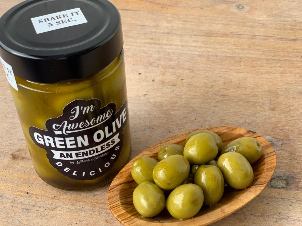 SHAKE IT green Olives in Anchovies sauce 200 gr.