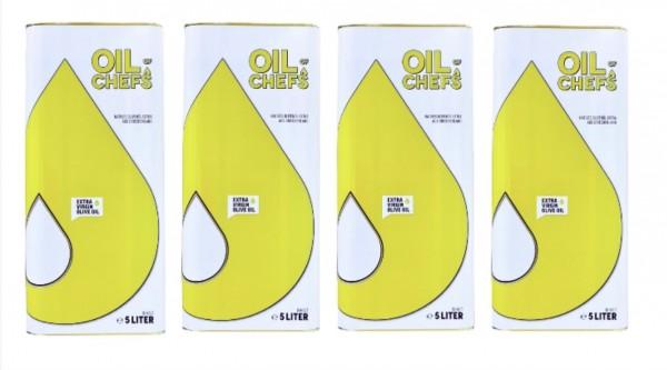 OIL OF CHEFS 4x5 Liter - Natives Olivenöl extra