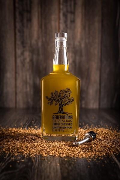 Olivenöl naturtrüb aus dem Generations-Olivenhain Christakis 700 ml