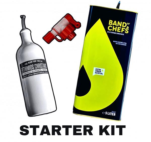 Starter Kit Bundle - BAND OF CHEFS natives Olivenöl extra 5 Liter