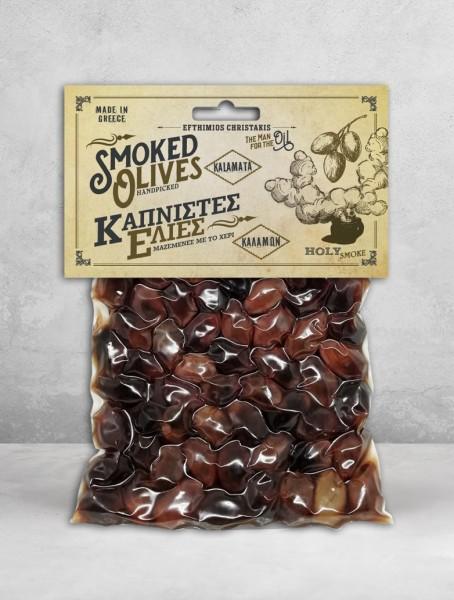 SMOKED Kalamon Olives 200 g - Geräuchert mit Buche