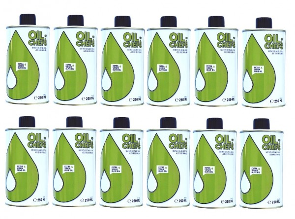 OIL OF CHEFS 12x250 ml - Natives Olivenöl extra