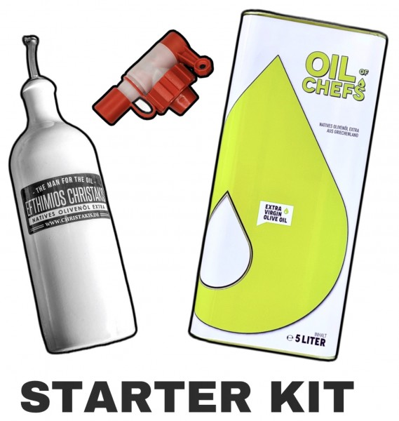 Starter Kit Bundle - Oil of Chefs natives Olivenöl extra 5 Liter