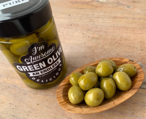 PURE green Olives in nativen Olivenöl extra 200 gr.