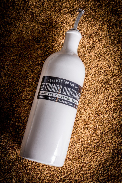 Keramik Flasche in weiß 750 ml mit Ausgießer
